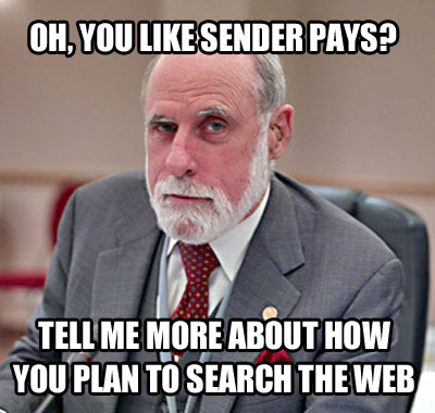 Oh, you like sender pays?